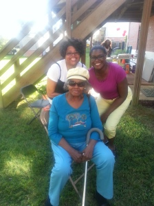 My grandmother, sister, & me